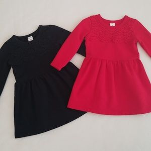 EUC Lot Carter's Kids Toddler Girls 2T L/S Dresses